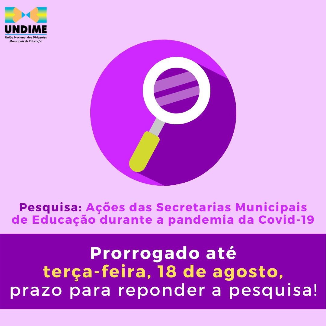 Prorrogado prazo para responder pesquisa da Undime sobre ações das Secretarias Municipais de Educação durante a pandemia da Covid-19
