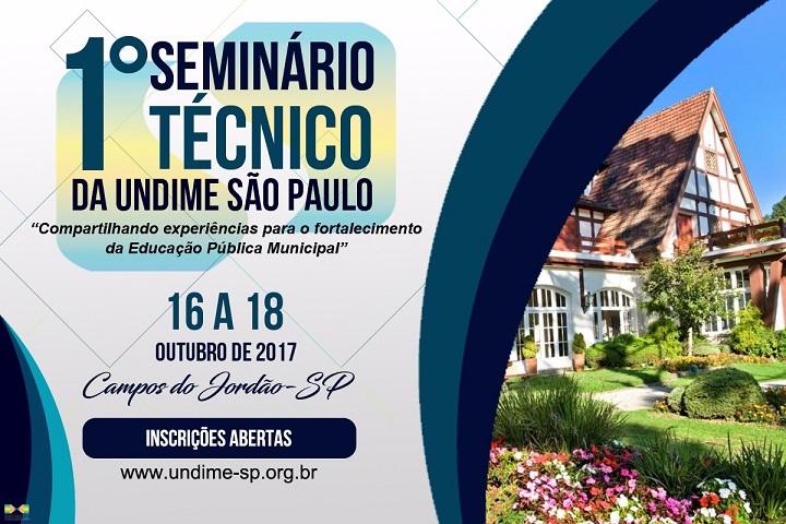 1º Seminário Técnico da Undime SP: 16 a 18 de outubro