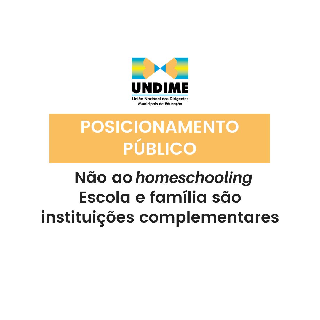 Não ao homeschooling