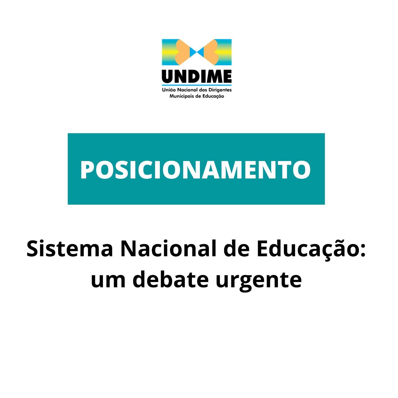 Sistema Nacional de Educação: um debate urgente