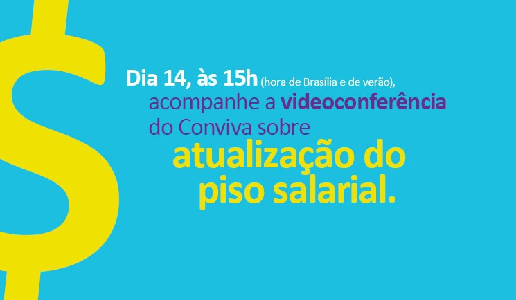 Piso Salarial do magistério é tema de videoconferência nesta quinta (14)