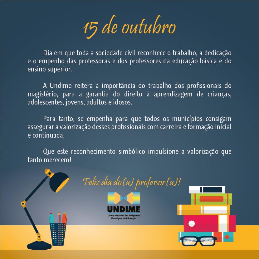 15 de outubro - Dia do(a) professor(a)!