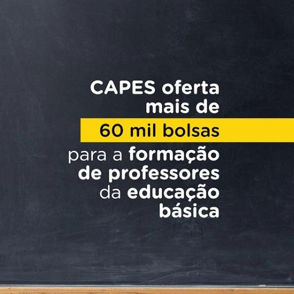 Capes oferta mais de 60 mil bolsas para a formação de professores