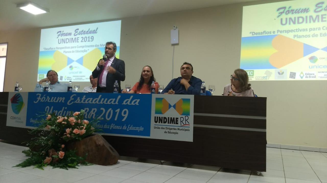 Undime Roraima reúne 230 participantes em Fórum Estadual