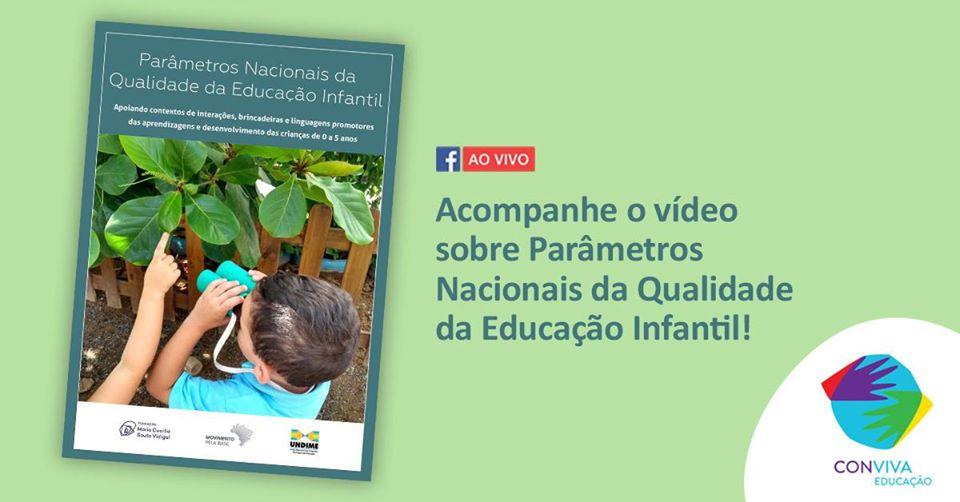 Conviva promove live sobre Parâmetros Nacionais da Qualidade da Educação Infantil