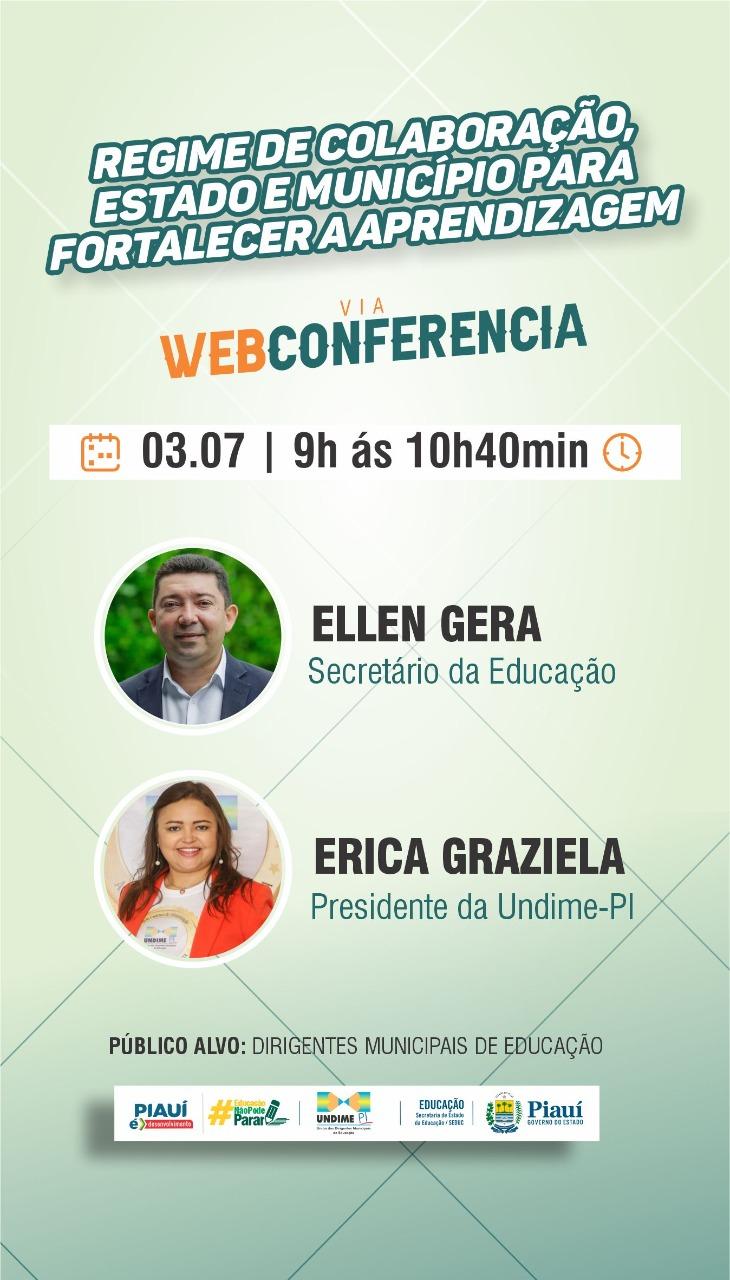Inscreva-se na Web Conferência Regime de Colaboração entre Estado e Município para Fortalecer a Aprendizagem
