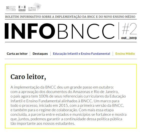 Undime e Consed lançam 2ª edição do boletim sobre a BNCC