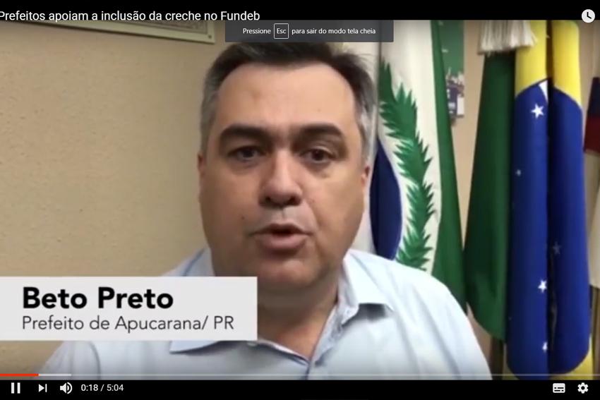 Em vídeo apresentado no 7º FNEx, Prefeitos defendem a permanência das creches no novo Fundeb