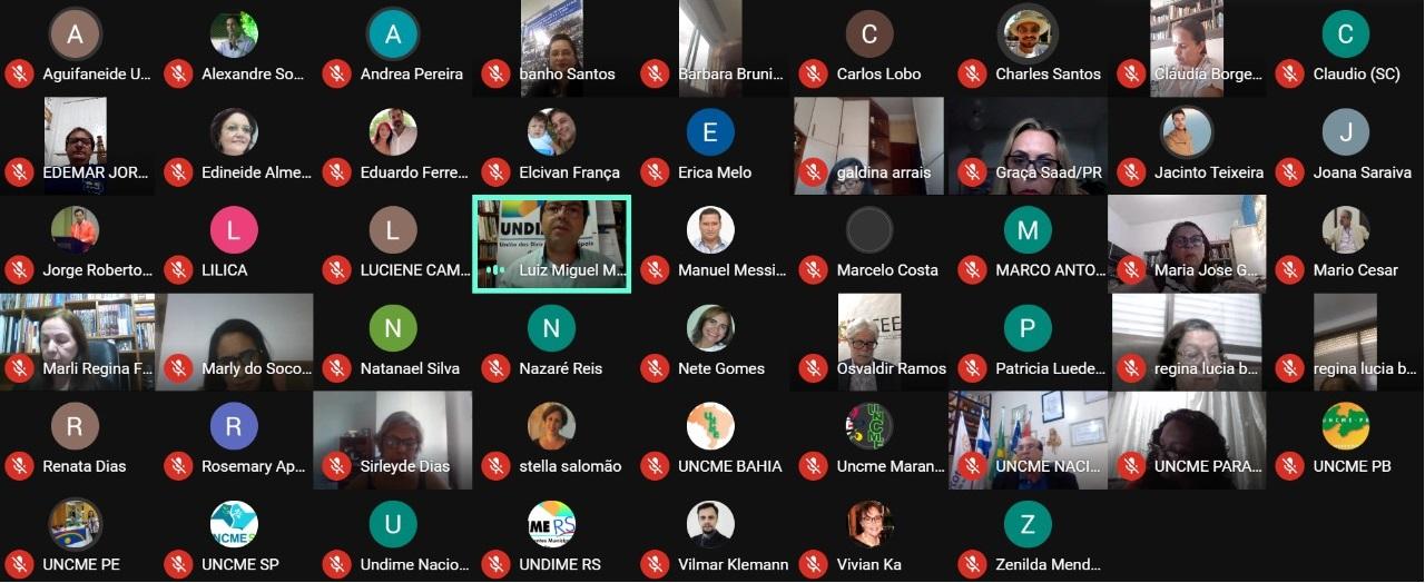 Undime reúne colegiado ampliado com dirigentes da Uncme e FNCE