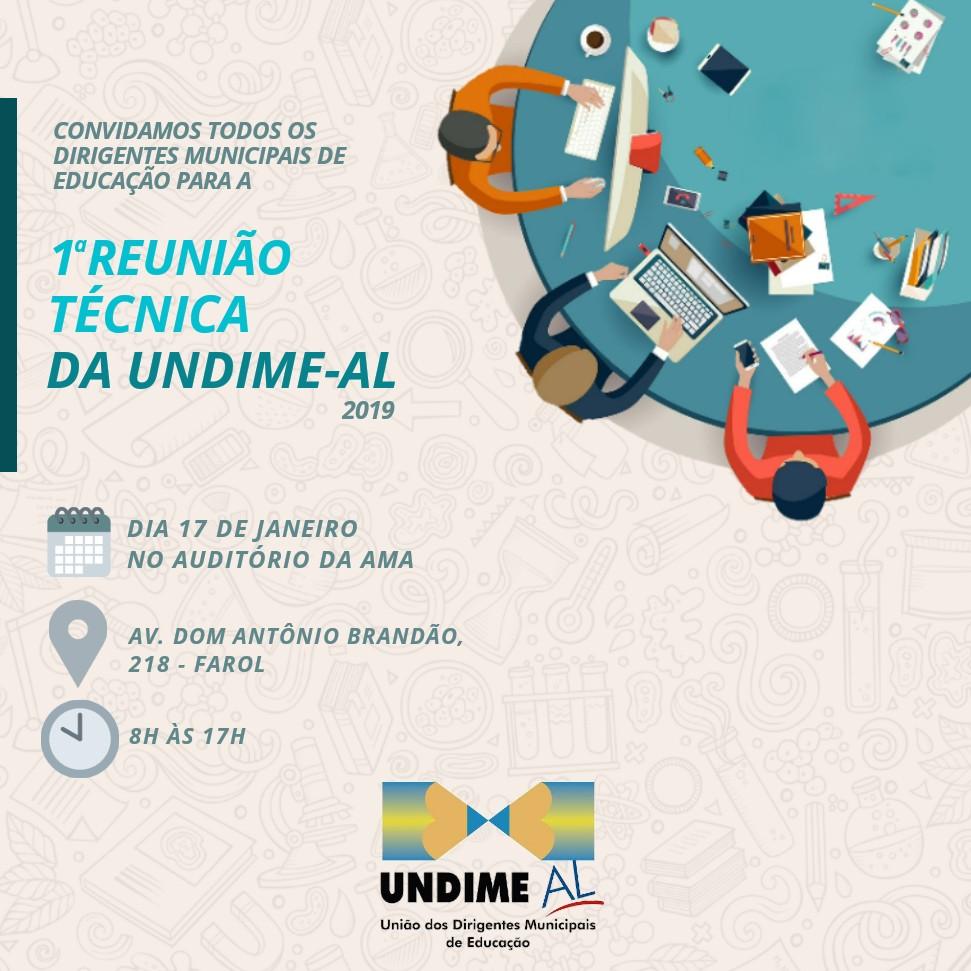 Undime Alagoas promove primeira Reunião Técnica de 2019 nesta quinta-feira (17)