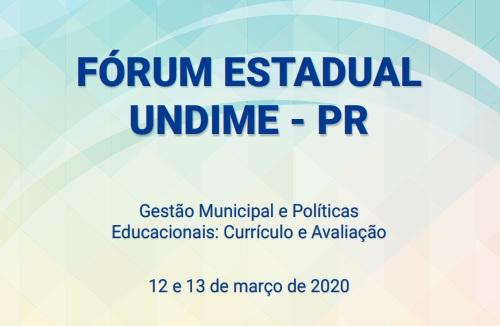 Undime Paraná realiza fórum estadual nos dias 12 e 13 de março