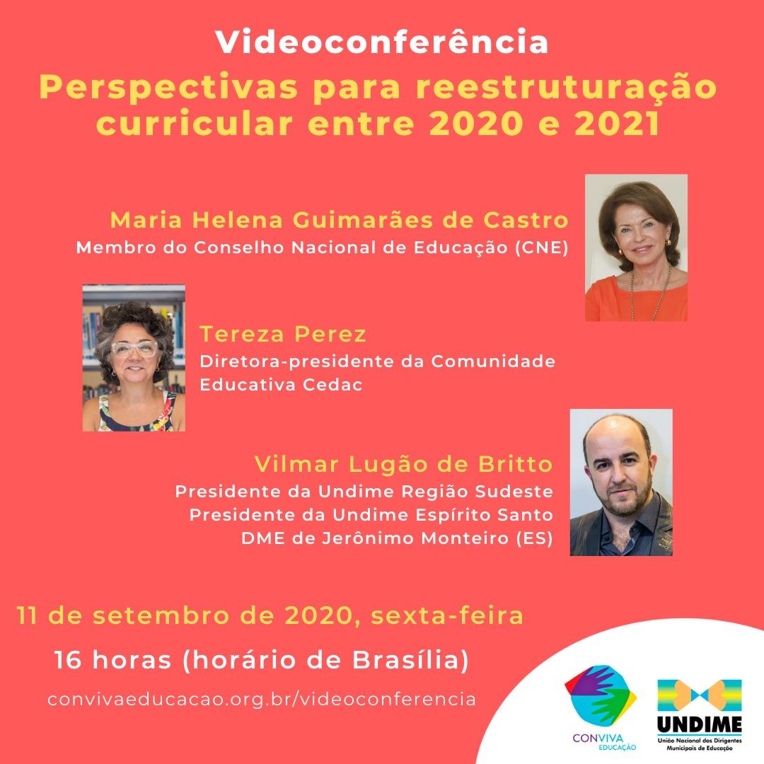 Conviva debate perspectivas para reestruturação curricular entre 2020 e 2021