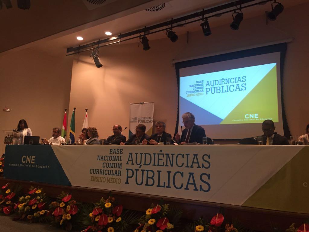 CNE promove primeira audiência pública para debater a BNCC do Ensino Médio