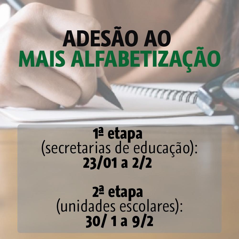 Adesão ao Mais Alfabetização pode ser realizada até sexta-feira (2)