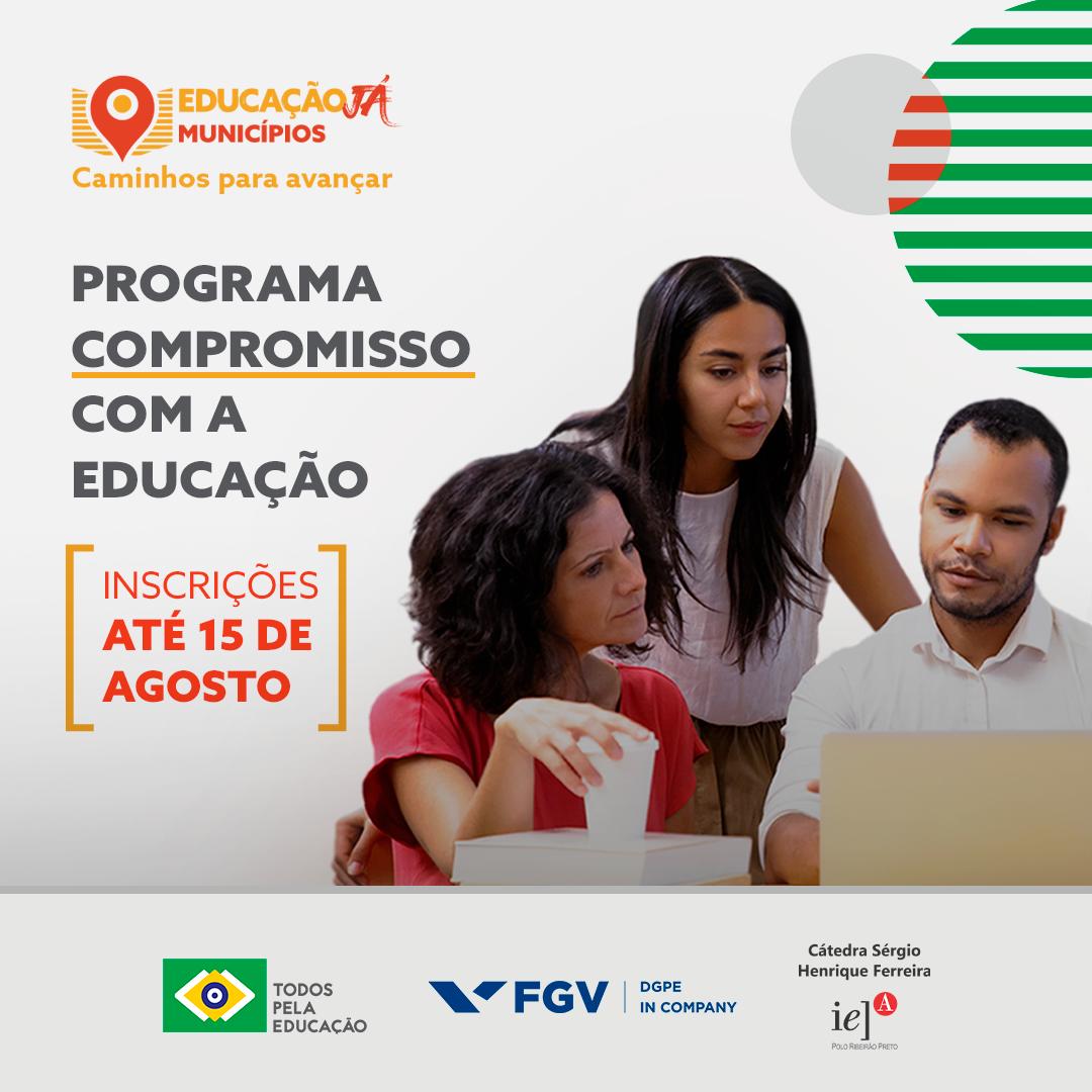 Programa Compromisso com a Educação abre inscrições para curso de gestores municipais