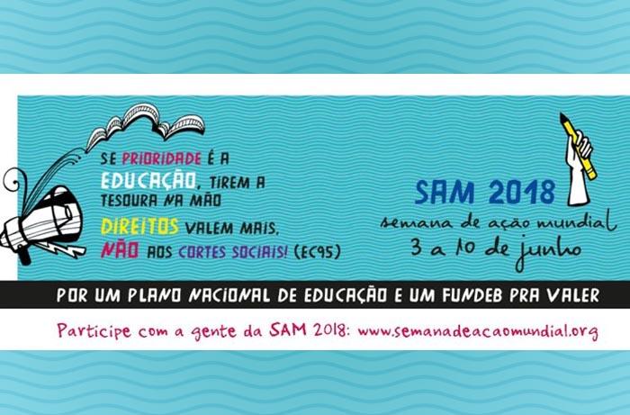 Semana de Ação Mundial 2018 será realizada de 3 a 10 de junho em todo Brasil