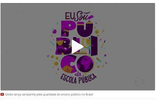 Globo lança campanha pela qualidade do ensino público no Brasil