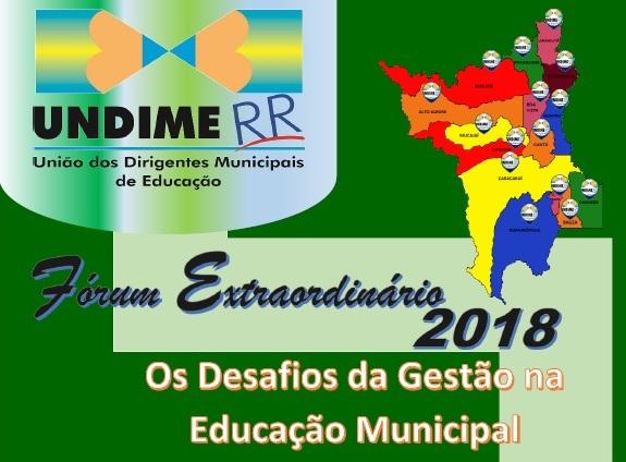 Undime Roraima promoverá fórum extraordinário nos dias 29 e 30 de maio