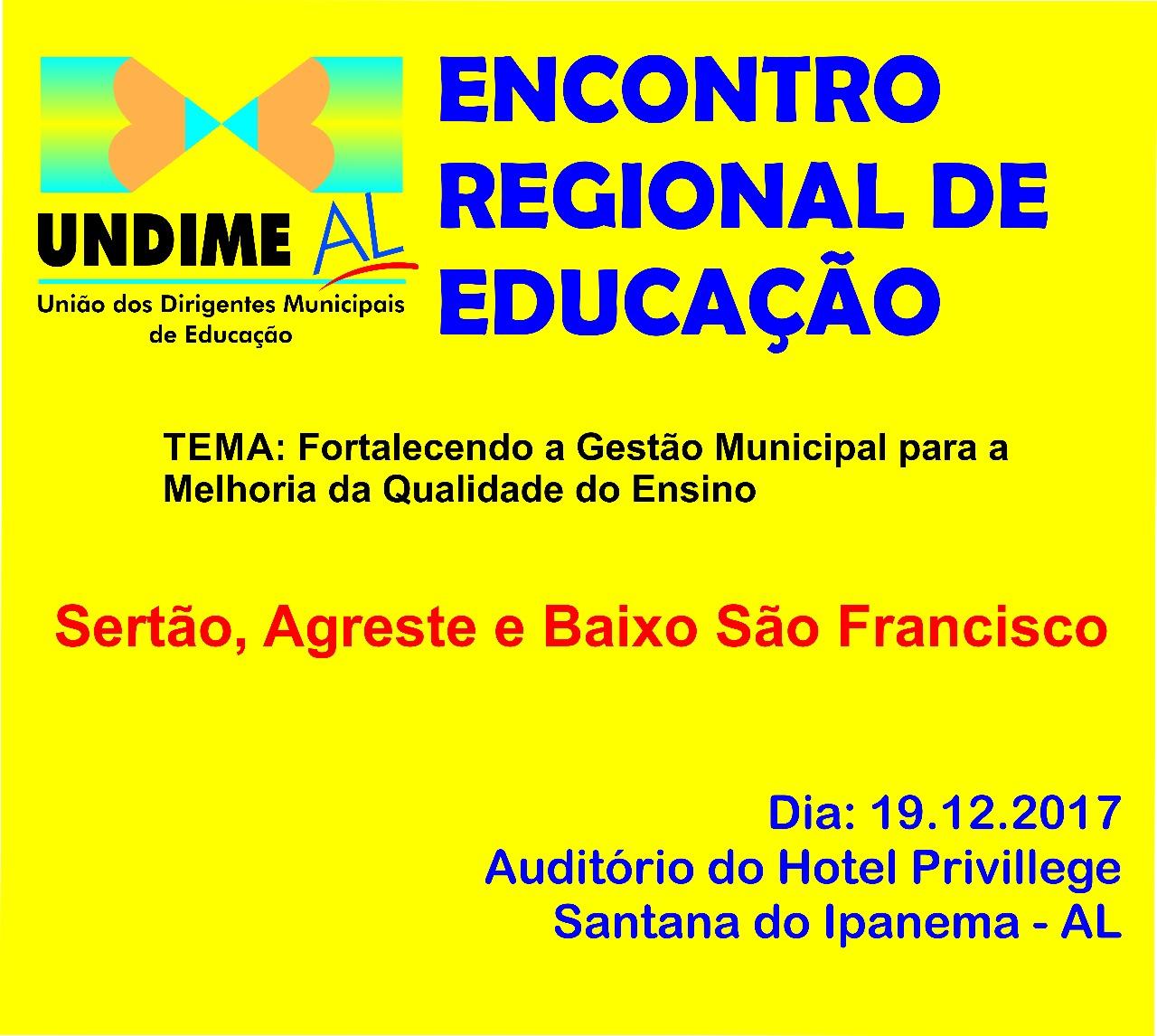 Undime AL realiza I Encontro Regional de Educação em Santana do Ipanema