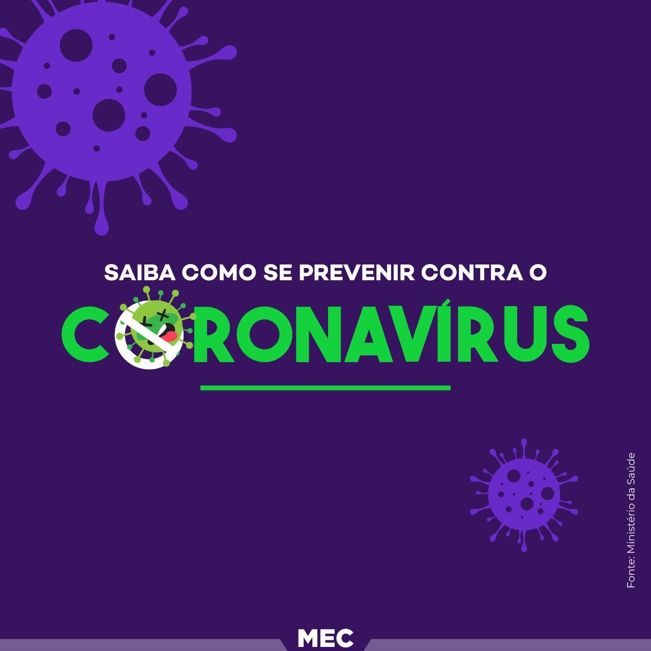 Recomendações a respeito do novo Coronavírus (COVID-19)