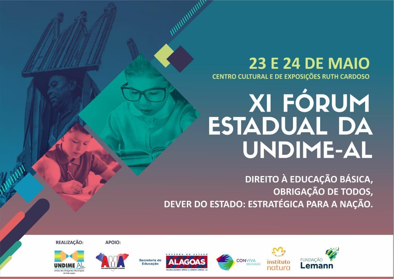 Fórum Estadual da Undime Alagoas será nos dias 23 e 24 de maio