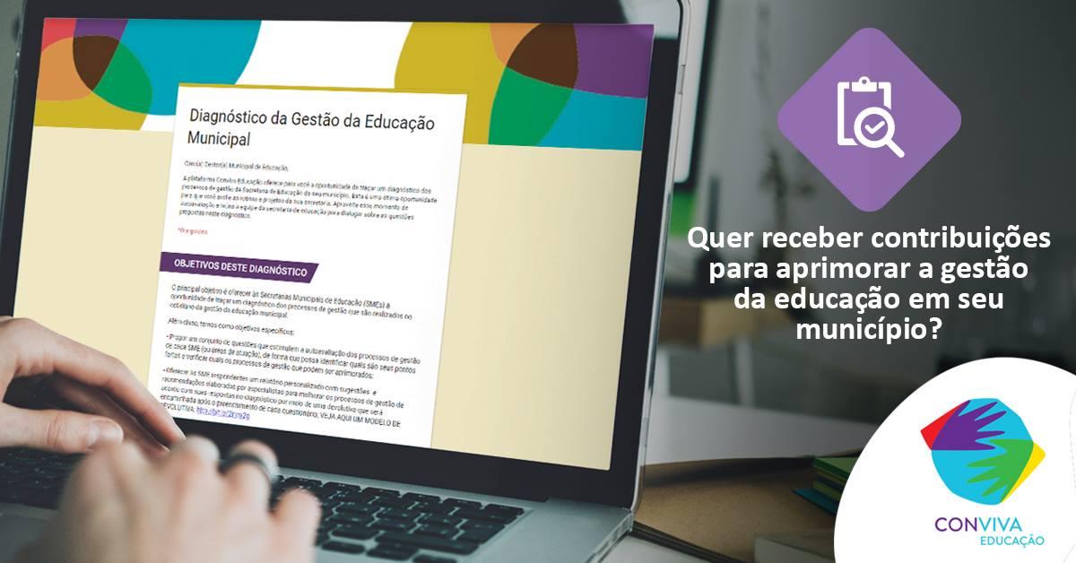 Municípios podem realizar diagnóstico da gestão da educação municipal por meio do Conviva até 2 de fevereiro