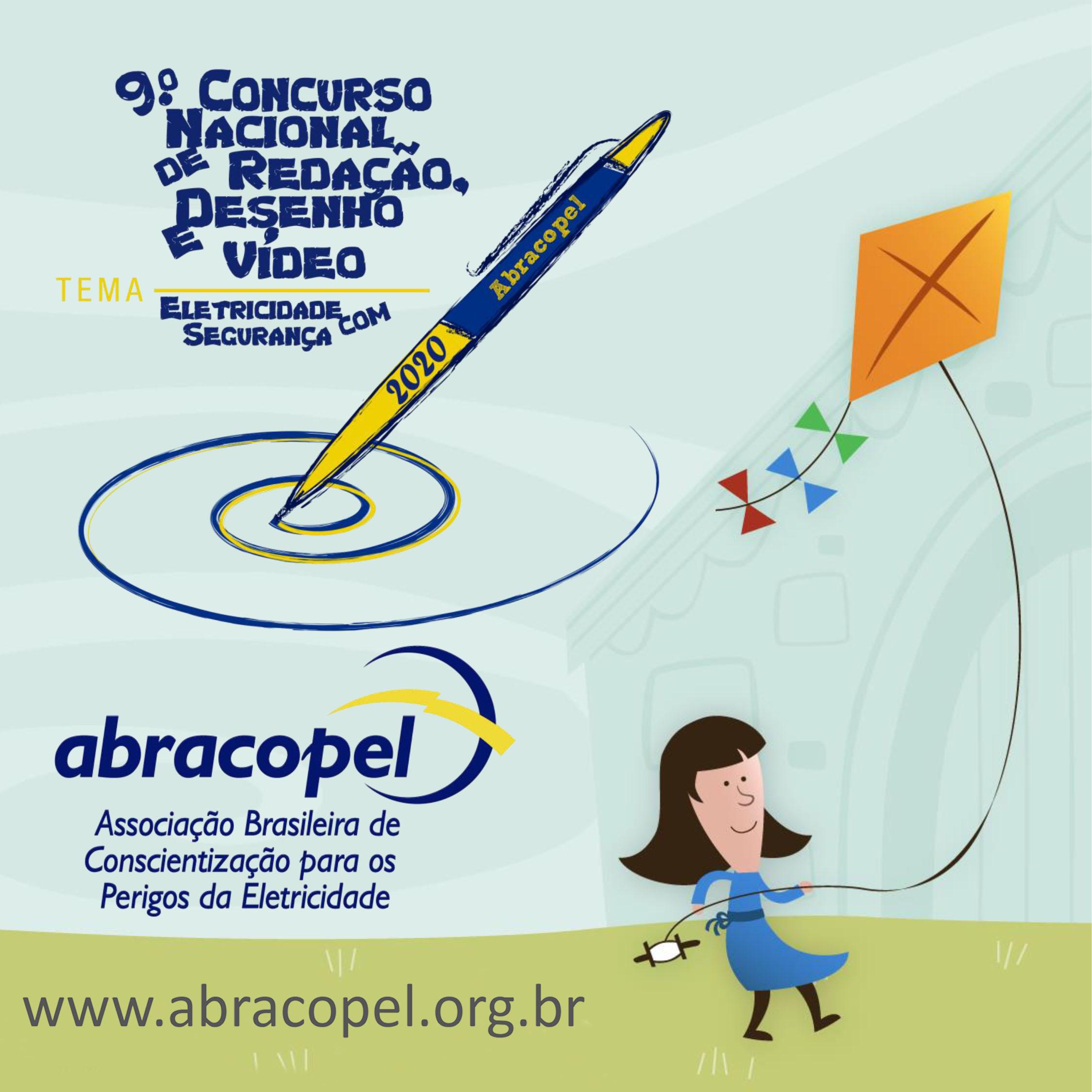 Eletricidade com segurança é tema de concurso de redação, desenho e vídeo da Abracopel