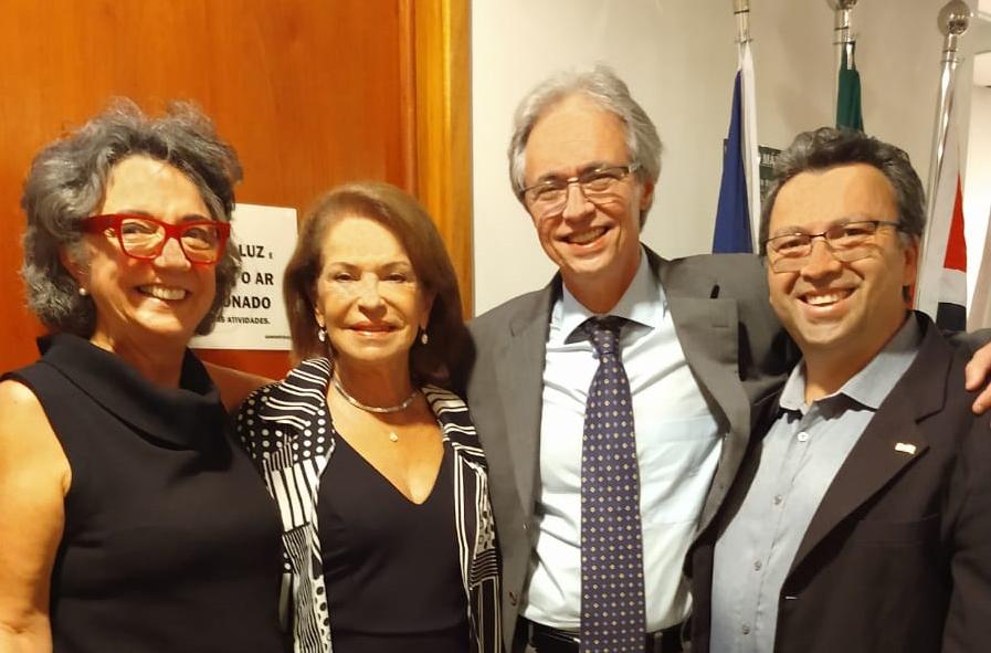 Luiz Miguel prestigia posse de Mozart Neves Ramos como titular da Cátedra Sérgio Henrique Ferreira, da USP