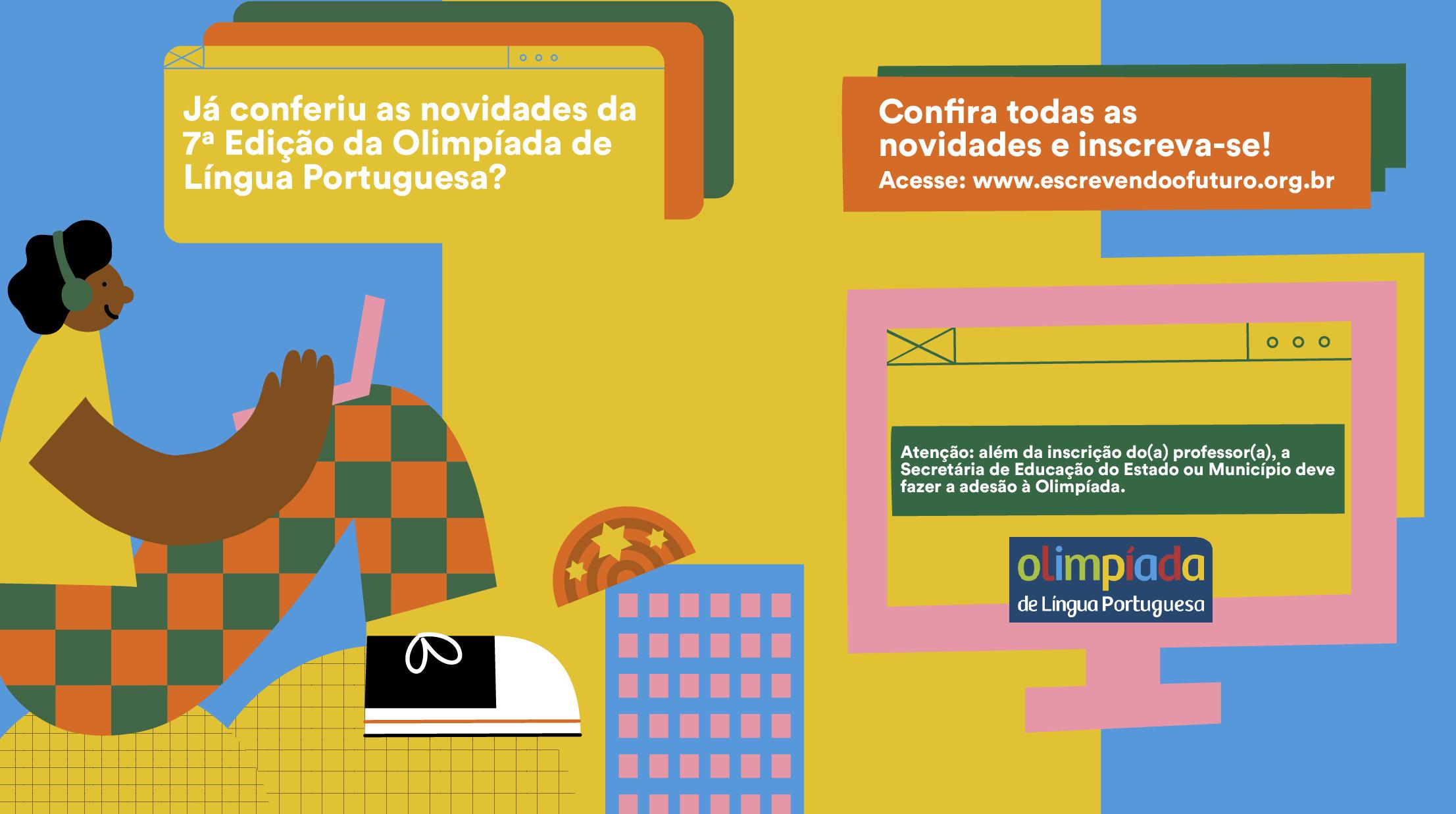Abertas as inscrições para a 7ª edição da Olimpíada de Língua Portuguesa