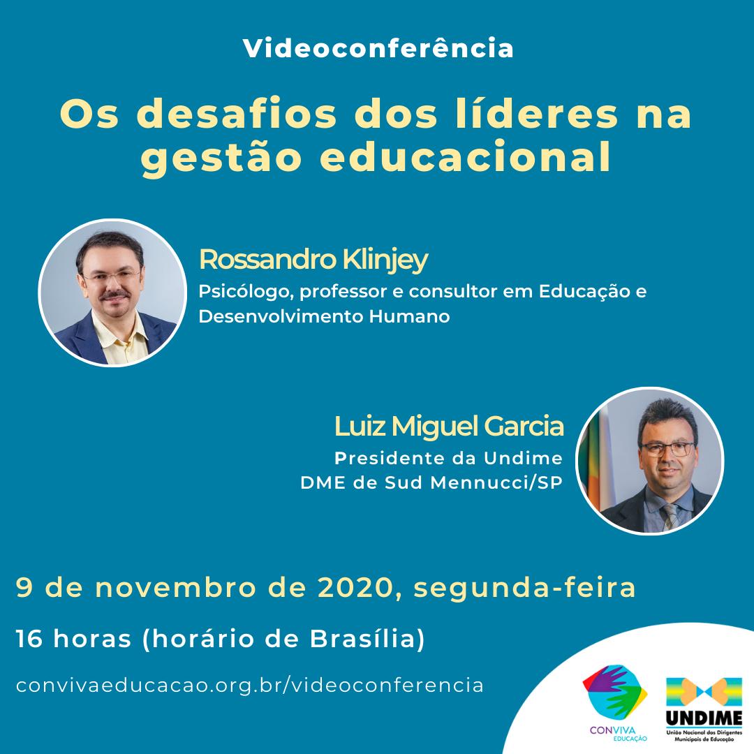 Conviva promove videoconferência sobre os desafios de líderes na gestão educacional