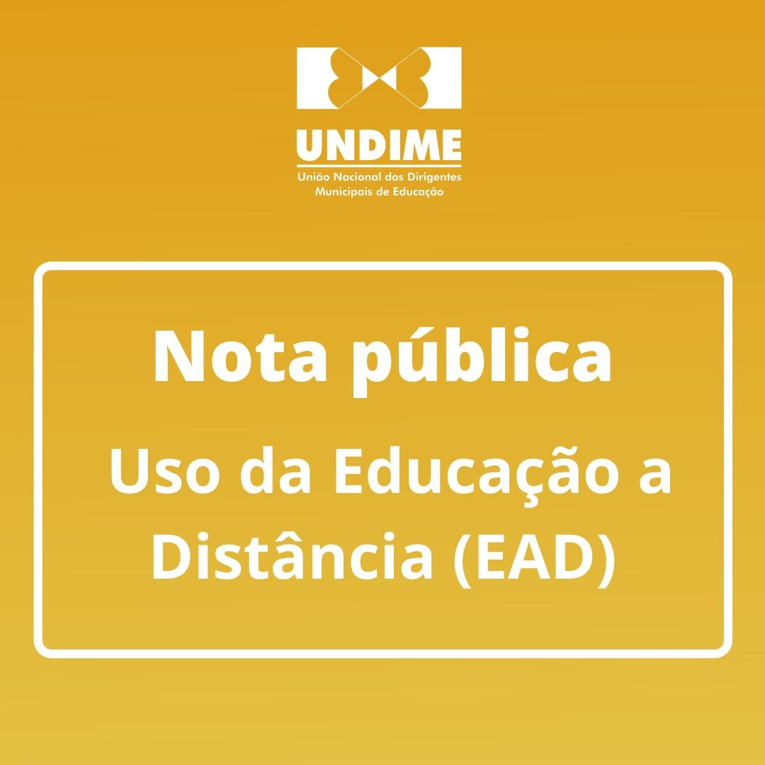 Nota pública- Uso da Educação a Distância (EAD)