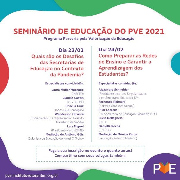 Undime participa de seminário sobre os desafios da Educação Pública no Brasil e a Garantia da Aprendizagem neste período de pandemia