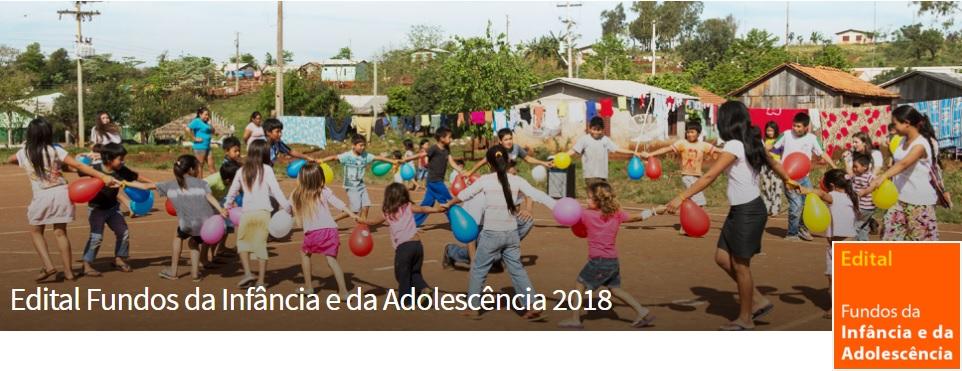 Inscrições abertas para o edital Fundos da Infância e da Adolescência