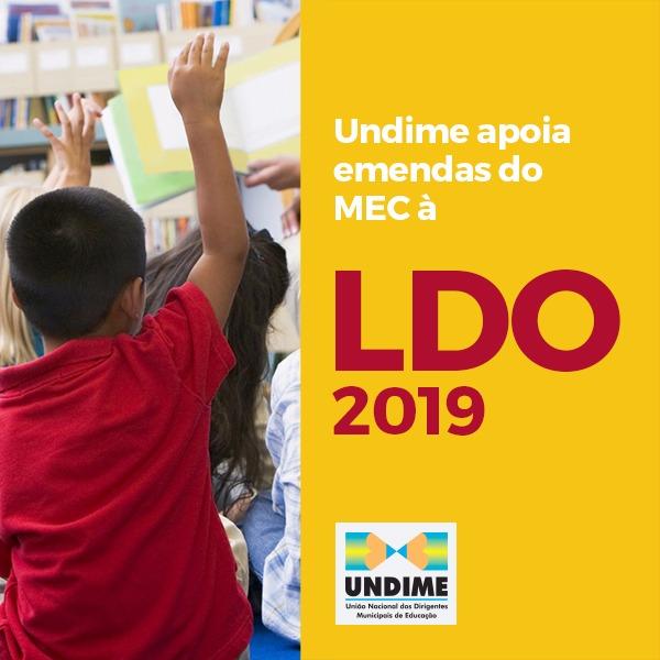 Undime apoia emendas do MEC à LDO 2019