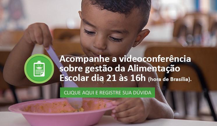 Conviva promove videoconferência sobre gestão da alimentação escolar nesta quinta (21)