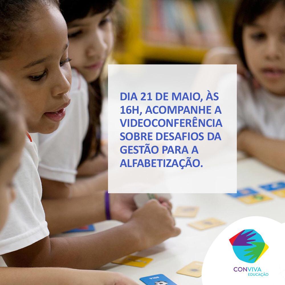 Conviva realiza videoconferência sobre os desafios da gestão para a alfabetização