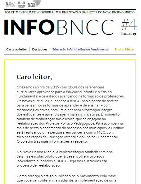 Confira a 4ª Edição do boletim InfoBNCC